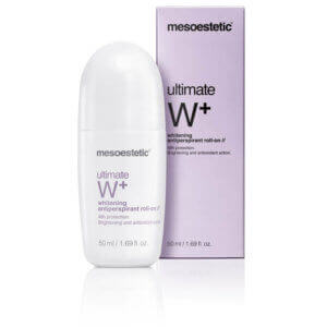 mesoestetic ultimate W+ whitening antitranspirant roll on